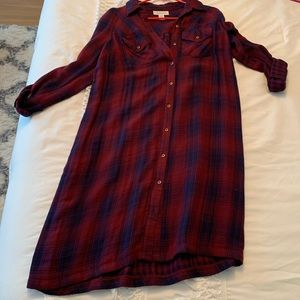 Maternity plaid dress